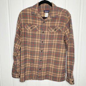 Patagonia Tan Plaid Button Shirt Organic Cotton